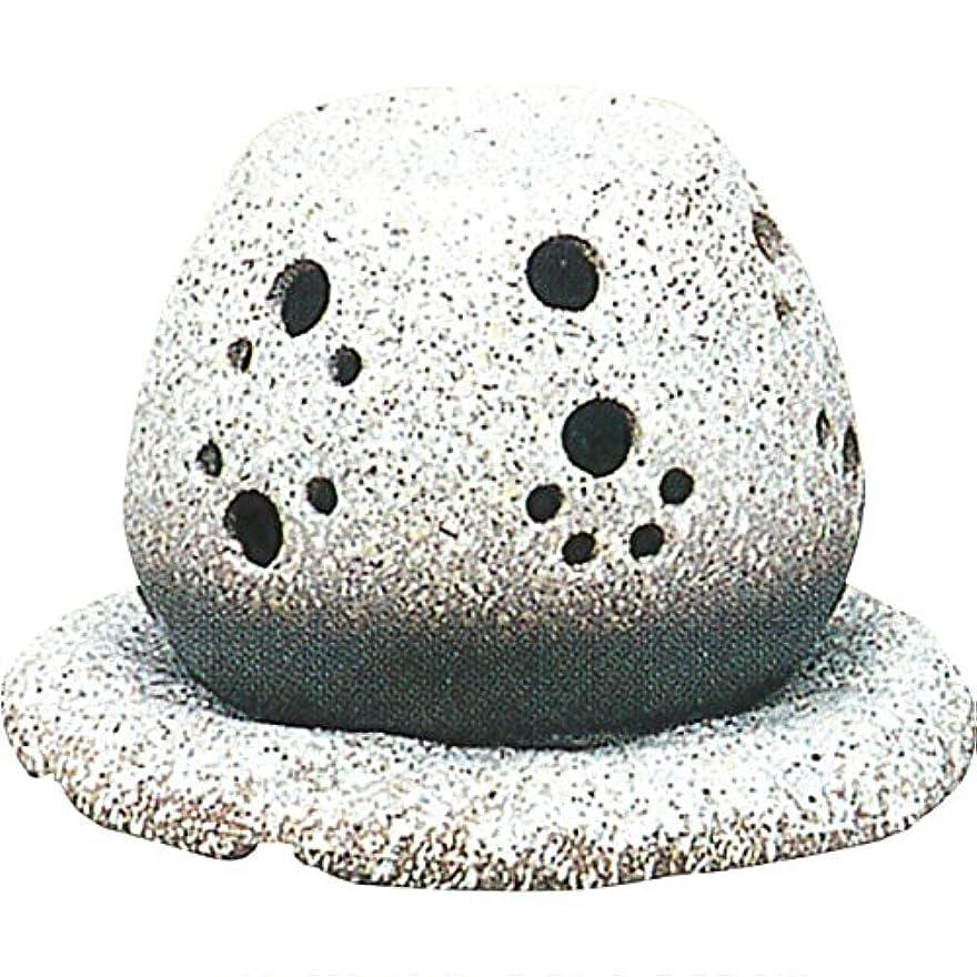 下向き移民迷惑茶香炉 : 常滑焼 山房窯 ロウソクタイプ茶香炉 (白皿付?ロウソク1ヶ付)?ル35-05
