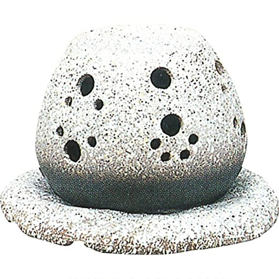 ツーリスト有毒エンジン茶香炉 : 常滑焼 山房窯 ロウソクタイプ茶香炉 (白皿付?ロウソク1ヶ付)?ル35-05