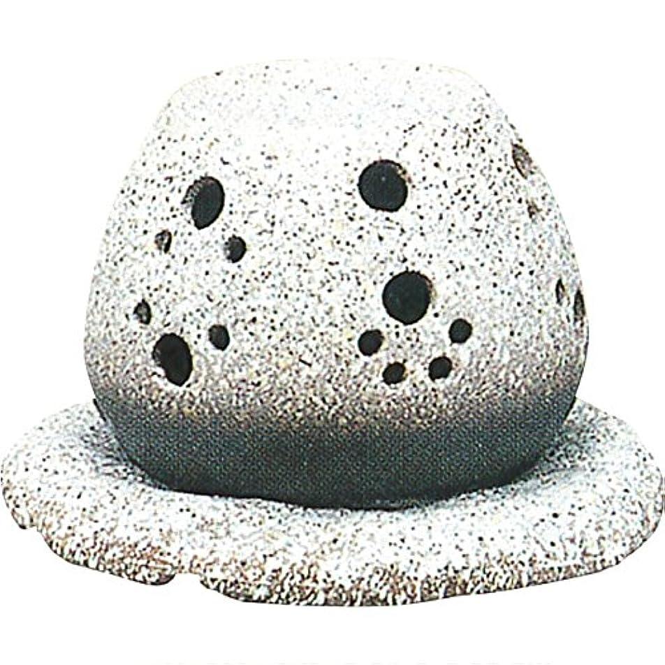 対称チャット噴出する茶香炉 : 常滑焼 山房窯 ロウソクタイプ茶香炉 (白皿付?ロウソク1ヶ付)?ル35-05