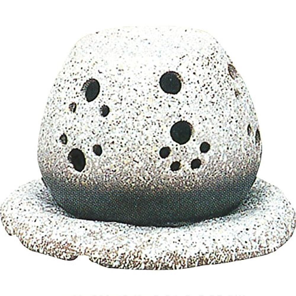病んでいる消毒剤不良茶香炉 : 常滑焼 山房窯 ロウソクタイプ茶香炉 (白皿付?ロウソク1ヶ付)?ル35-05