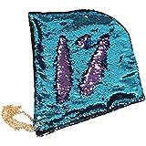 SODIAL マーメイドスパンコールレーブフード マジックリバーシブルスパンコールパーティー帽子(レイクブルー+パープル)