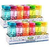 Big Bubble Wand 12 Pack - 36cm Blow Bubbles Solution Novelty Summer Toy - Activity Party Favour Assorted Colours Set