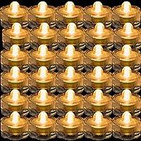 TDLTEK防水水中LEDライトティーライト、ウェディング、パーティー、装飾用( 36ピースピンク) 36 Pack TDLSBLIGHT00323