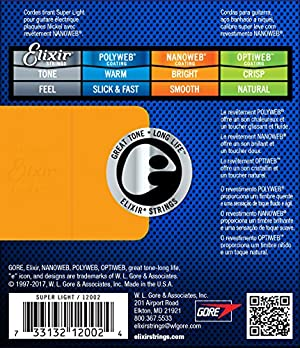 Elixir エリクサー エレキギター弦 NANOWEB Super Light .009-.042#12002 【国内正規品】