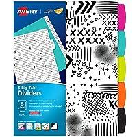Avery + Amy タンジェリン デザイナーコレクション ビッグタブディバイダー レインボーバイブ 5タブセット(11394)