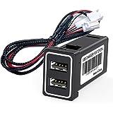 CHELINK トヨタ車系用 カーチャージャー 車載QC3.0 デュアルUSB 2ポート 急速充電USB スマホ充電 増…