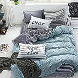 OneMtoss 寝具カバーセット ダブル/ シングル ベッド用カバーセット 掛け 布団カバー ・ベッド シーツ・1/2枚枕カバー (ピローケース)3点セット 4点セット 寝具 ベッド 用品 四節適用 柔らかい 北欧 コットン 100% (シングル)