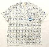 レインスプーナー REYN SPOONER 古着アロハシャツ レディース ラハイナセイラー 紺X白 NFLワッペン刺繍入り
