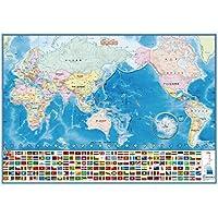 デビカ いろいろ書ける消せる世界地図 073102