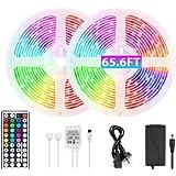 65.6ft RGB LED Strip Lights Ultra-Long Color Changing Light Strip with Remote, 600LEDs Bright 20m LED Lights, DIY Color Optio