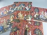 BiblioArt Series 貴婦人と一角獣 ジークレープリント(額絵6枚セット)
