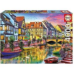 4000ピース ジグソーパズル Educa コルマール フランスの運河 Colmar Canal, France 96×136cm 17134