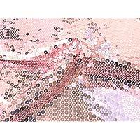 okadaya スパンコール生地 50cm 約85cm巾 500674 col.6 ピンク(ベース生地 ピンク)