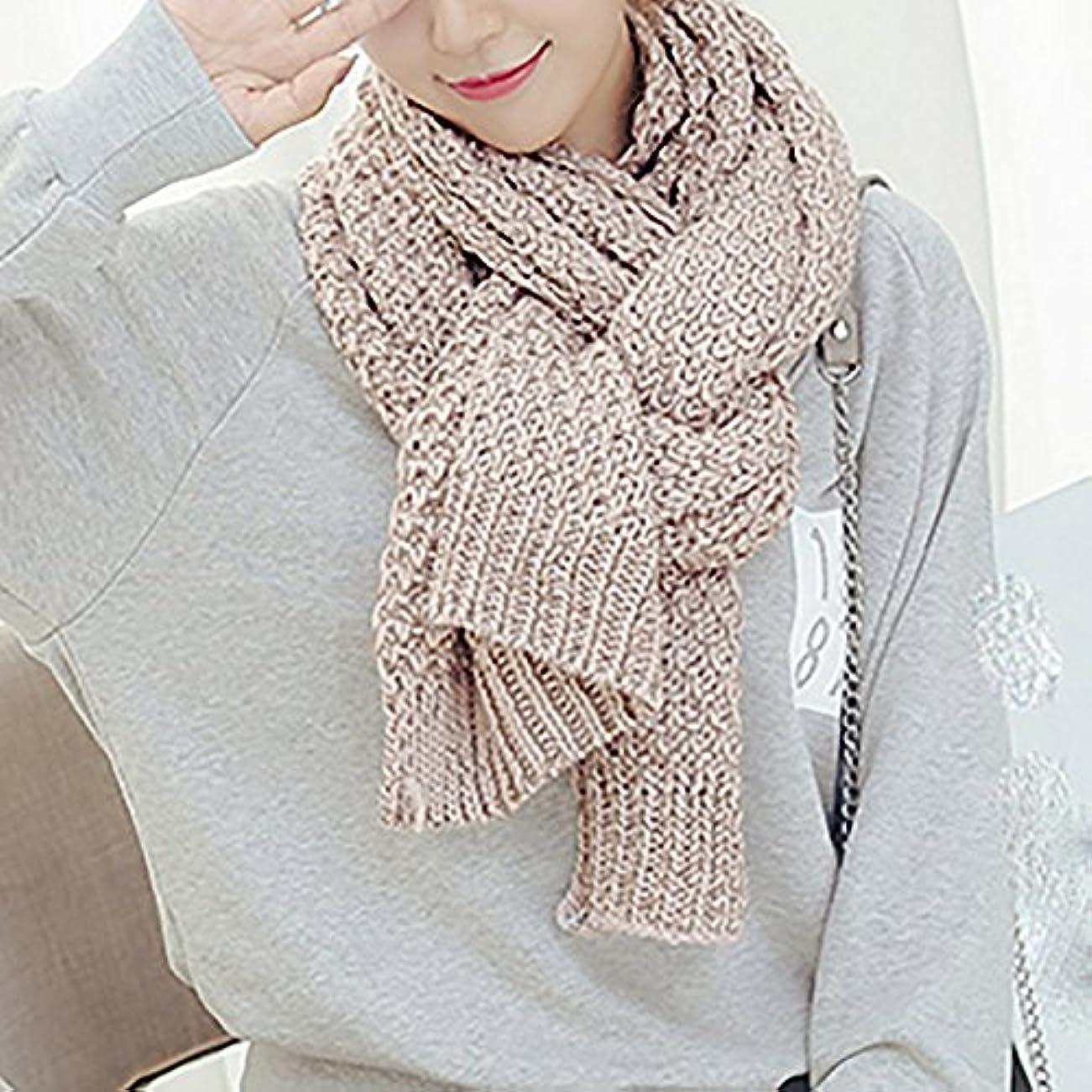 悪党種ゴールドZZHF クリスマススカーフの女性の冬のニットのカップルモデルは、秋と冬の日が長い学生スカーフを肥厚 シルクのスカーフ ( 色 : D , サイズ さいず : 200*400CM )