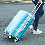 Honel スーツケース カバー トランクカバー スーツケースカバー キャリーバッグ カバー 旅行 PVC素材 トランク 保護 汚れ 傷 防止 透明 24インチ対応