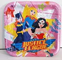 Justice League Girls Large Plates (8ct) [並行輸入品]