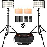 SAMTIAN 160LEDビデオライト照明キット スタジオ撮影ライト 78.74インチ/2M三脚 3200/5500Kビデオ写真ライトスタンドセット Canon Nikon Sony DSLRカメラ撮影 キャリングケース付属 YouTubeビデオ撮影照明対応