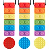 3 Pack Sensory Chew Necklace for Kids Toddlers with Autism ADHD,Biting Needs,Oral Motor Chewy Stick,Teether Toys for Autistic