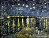 ゴッホ 星降る夜、アルル 6号 額 E セピア
