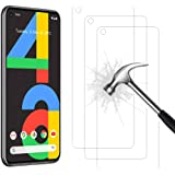 Ahasky Tempered Glass for Google Pixel 4A Screen Protector, Easy Bubble-Free Installation, 99.99% HD Clarity, 9H Hardness Tem