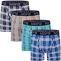 JINSHI Men's Underwear Bamboo Performance Long Boxer Briefs