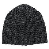 ニット帽 春夏 帽子 メンズ レディース サマーニット 日本製 CASTANO リネンShortワッチ [M便 3/8]4 黒