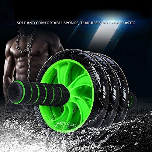 (フォーカスオンライフ) アブホイール エクササイズウィル スリムトレーナー 超静音 腹筋ローラー エクササイズローラー 膝を保護するマット付き