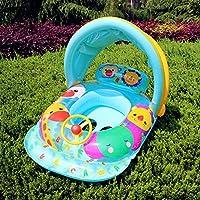 カニの子供インフレータブルスイミングプールの年齢のための太陽のキャノピーのベビープールのおもちゃを持つボートフロートシート6-36ヶ月 (色 : E)
