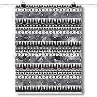 Inspiredポスターブラックandホワイトアステカパターンポスターサイズ18x 24