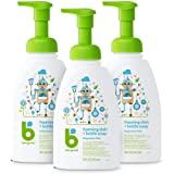 Babyganics Foaming Dish and Bottle Soap, Fragrance Free, 16oz Pump Bottle (Pack of 3)