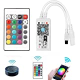 VIPMOON WiFi Wireless LED Smart Controller,Compatible with Alexa&Google Assistant&IFTTT,Working with Android,iOS System and R