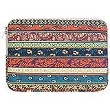 Mosiso ラップトップ スリーブケース ボヘミアン スタイル キャンバス 11-11.6インチ ウルトラブック/ネットブック/タブレット/MacBook Air用 バッグ(神秘の森)
