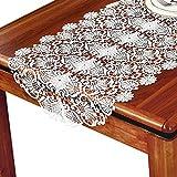 レース用テーブルランナーホワイト、ファミリーディナーまたはパーティー用テーブルランナー、または日常用テーブルクロス (色 : 白, サイズ さいず : 50×150cm)