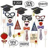 LUoem 2018卒業写真ブース小道具 – 卒業式デコレーション写真ブース小道具の2018新しい年卒業式誕生日祭パーティーSupplies 30パック