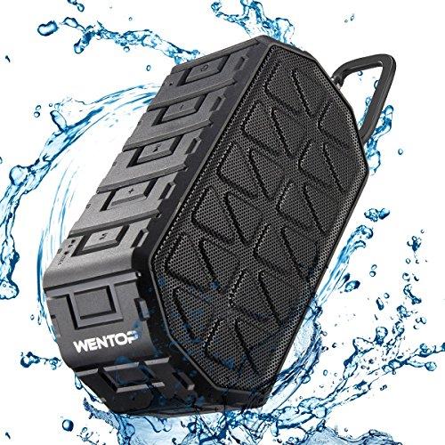 WenTop Bluetoothスピーカー 10W IP66防水24時間再生時間、20mブルートゥースレンジ&ビルトインマイク、デュアルドライバーワイヤレスポータブル、4.2ブルートゥーススピーカー、携帯電話、コンピュータ、自動車などに使用