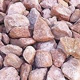 天然石 砕石砂利 ボルドーレッド 3-4cm 30kg