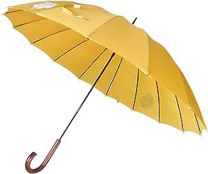 東京丸惣 水に濡れると色が変わる変色プリント 16本骨傘 直径102cm バラ柄 ゴールド 8321GLD
