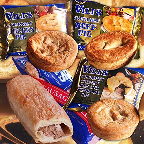 ミートガイ ミートパイ4種セット (合計590g) (直輸入品) ビリーズパイのセット Vili's Meat Pie Value Set