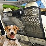 Hosam ペット乗車用品 犬 猫 分離ネット メッシュ ペットと一緒にお出かけ 旅行 運転 安全 調整可能 装着簡単 安全ネット
