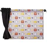 ナポレックス ディズニー 車用カーテン 2枚入り メッシュ&遮光の2重構造 ダブルカーテン ミッキー(アイコン柄) 汎用 BD-125