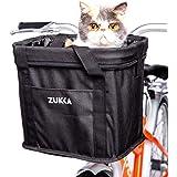 ZUKKA自転車かご バスケット 前かご 多機能 折りたたみ式 取り付け簡単 防水性 ペットバスケット 収納かご
