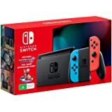 Nintendo Switch Console (Neon Blue/Red Joy-Con) with Mario Kart 8 Deluxe Full Game Download Code