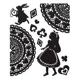 東洋ケース シール デコレーション (スマホ・ガラケー) 蒔絵シール Fairy tale アリス/ブラック FAIRY-01-BK