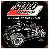 """ソロSpeed Shop 1932フォードメタルサイン–12"""" x12"""""""