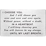 Engraved Wallet Card Insert Men, for Husband, I Choose You, Gifts for Husband from Wife, Groom's Gifts for Men, Romantic Gift