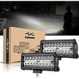 NAO LED 作業灯 デッキライト ワークライト バックライト 12v-24v 7インチ トラック用 240W 防水 2個