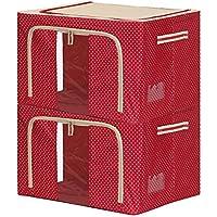居愛 収納ボックス 2枚組 66L 8色 (赤)