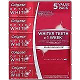 海外直送品 Colgate Optic White コルゲート オプティック ホワイト スパークリングミント141g ×5本 [Pack of 5]