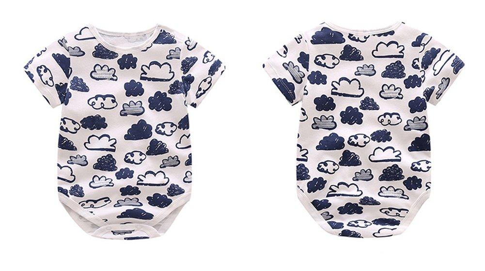 53cce52ed6f7f ZooArts ベビー服 ロンパース 男の子 女の子 夏 半袖 綿 かわいい カラフル 新生児 カバーオール ボディースーツ 柔らかい おしゃれ