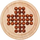 TOYMYTOY 木製ソリティア ペグソリティア ボードゲーム おもちゃ 知育玩具 暇つぶし 発想力 思考判断力 クラシ…
